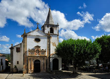 Church Santa Maria, Obidos, Portugal Stock Photography