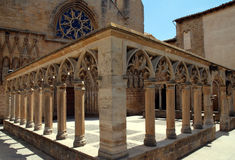 Church of Santa Maria in Olite. Northern Spain Stock Photography