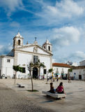 Church of Santa Maria. Praca Infante Dom Henrique square. Lagos, Royalty Free Stock Photo