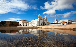 Church of Santa Maria reflected in the water Stock Photography