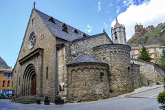 Church of  Santa Maria, Ribes de Freser Royalty Free Stock Image