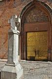 Church of Santa Maria-Sagunto stock photo