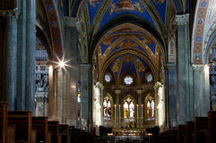Church Santa Maria sopra Minerva in Rome Royalty Free Stock Image