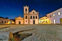 Church of Santa Rita de Cassia. Church of `Santa Rita de Cassia` in Paraty, Rio de Janeiro, at night stock image