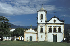 The church of Santa Rita in Paraty, State of Rio de Janeiro, Bra. The church of Santa Rita, built in 1722 for the freed mulatto population. Paraty, state of Rio Royalty Free Stock Image