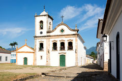 Church Santa Ritain Paraty, state Rio de Janeiro, Brazil. Rio de Janeiro, February, 15, 2016 - Church Igreja de Santa Rita de Cassia in Paraty, state Rio de Royalty Free Stock Photos