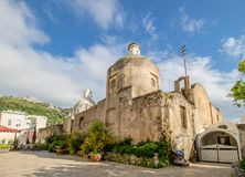 Church of Santa Sofia on the island of Capri, Italy. The Chiesa di Santa Sofia Santa Sofia Church is located in the Piazza of Anacapri, on the island of Capri stock photography
