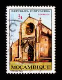 Church in Santarem, 500th anniversary P.A. Cabral serie, circa 1968 Stock Photos