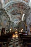 The church of Santi Apostoli Pietro e Paolo in Torri del Benaco. Stock Photos