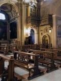 Church Santi Cosma e Damiano in Rome. Interior view fo the Basilica of Santi Cosma e Damiano in Rome. The basilica of Santi Cosma e Damiano is a church in the Stock Images