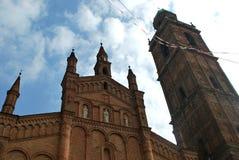 Church of Santi Fermo and Rustico, Caravaggio. Church of San Fermo and Rustico at Caravaggio, a town in the province of Bergamo, Lombardy, Italy Stock Photo