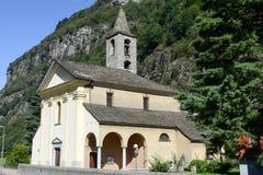 Church Santi Innocenti at Pollegio on  Leventina valley Stock Images