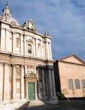 Church of Santi Luca e Martina in Rome. Facade Stock Image