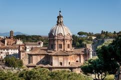 The church of Santi Luca e Martina, Rome - Italy. Royalty Free Stock Photography