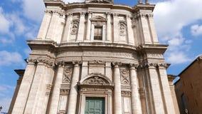 Church Santi Luca e Martina. Rome, Italy stock video