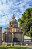 Church Santi Luca e Martina, Rome Stock Photos