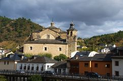 Church of Villafranca del Bierzo Leon Spain Stock Image