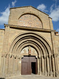 Church of Santiago Apostol in Sanguesa Stock Photo