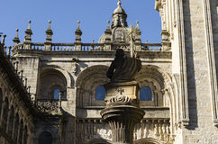 Church in Santiago de Compostela Royalty Free Stock Photography