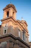 Church of the Santissima Trinita dei Monti. Facade fragment of Church of the Santissima Trinita dei Monti, often called merely the Trinita dei Monti, a Roman Royalty Free Stock Images