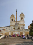 Church of Santissima Trinita dei Monti in Rome. Italy Royalty Free Stock Image