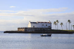 Church of Santo António - Island of Mozambique. The Island of Mozambique (Portuguese: Ilha de Moçambique) lies off northern Mozambique, between the Mozambique Stock Images