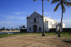 Church of Santo António - Island of Mozambique. The Island of Mozambique (Portuguese: Ilha de Moçambique) lies off northern Mozambique, between the Mozambique Stock Photo