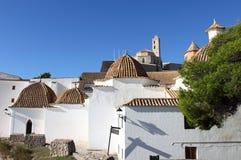 Church of Santo Domingo in Ibiza stock photo
