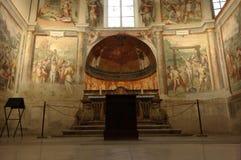 Church of santo stefano rotondo. ROME, ITALY - SEPTEMBER 26, 2015: church of Santo Stefano Rotondo, chapel of the Saints Primus and Felician, frescos by Antonio Stock Photos