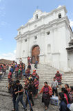Church of Santo Tomas at Chichicastenango Royalty Free Stock Image