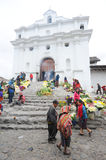 Church of Santo Tomas at Chichicastenango Stock Image