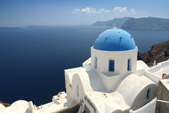 Church on Santorini. In the town Oia Royalty Free Stock Image