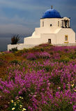 Church in Santorini Stock Photo