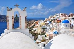 Church in Santorini Stock Image