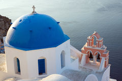 Church on Santorini island Royalty Free Stock Images