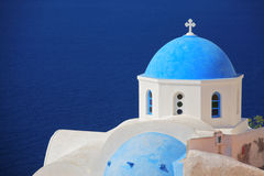 Church on Santorini island Stock Images