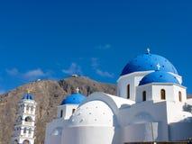 Church in Santorini island Stock Photo