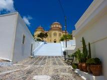 Church in Santorini island Royalty Free Stock Photos