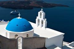 Church at Santorini island in Greece Royalty Free Stock Photos