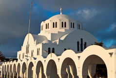 Church at Santorini island in Greece Stock Photos
