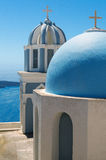 Church on Santorini island in Greece Stock Photos