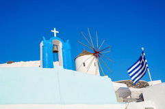Church at Santorini island in Greece Stock Photo