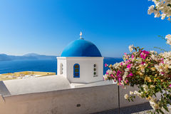 Church on Santorini island, Oia Stock Images