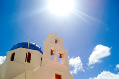 Church in Santorini. This church is the signature of Santorini Island Royalty Free Stock Images