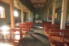 Church at Santuario Naturaleza, Valdivia South America Stock Photos