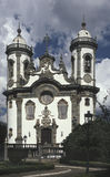 The church of Sao Francisco de Assis in Sao Joao del Rey, state of Minas Gerais, Brazil. Royalty Free Stock Photos
