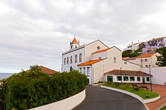 Church of Sao Paulo in a small village Ribeira Quente near Furnas, Azores. The village located to the south of Furnas and linked by two tunnels to the rest of Royalty Free Stock Photos