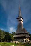 Church of Sapinta. The tallest wooden church in the world - 'The Church of Sapinta in Romania Stock Image