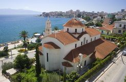 Church in Sarande stock photography