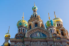 Church of Savior on Blood - architectural details and artistic elements of facade, St. Petersburg, Russia Royalty Free Stock Image